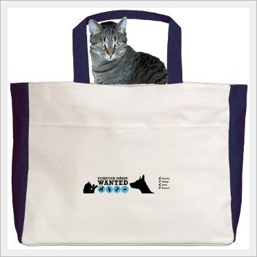 ForeverHomeWanted.com Tote Bag (cat not included)