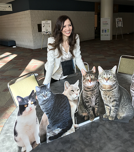 BlogPaws Flat Cat Meeting